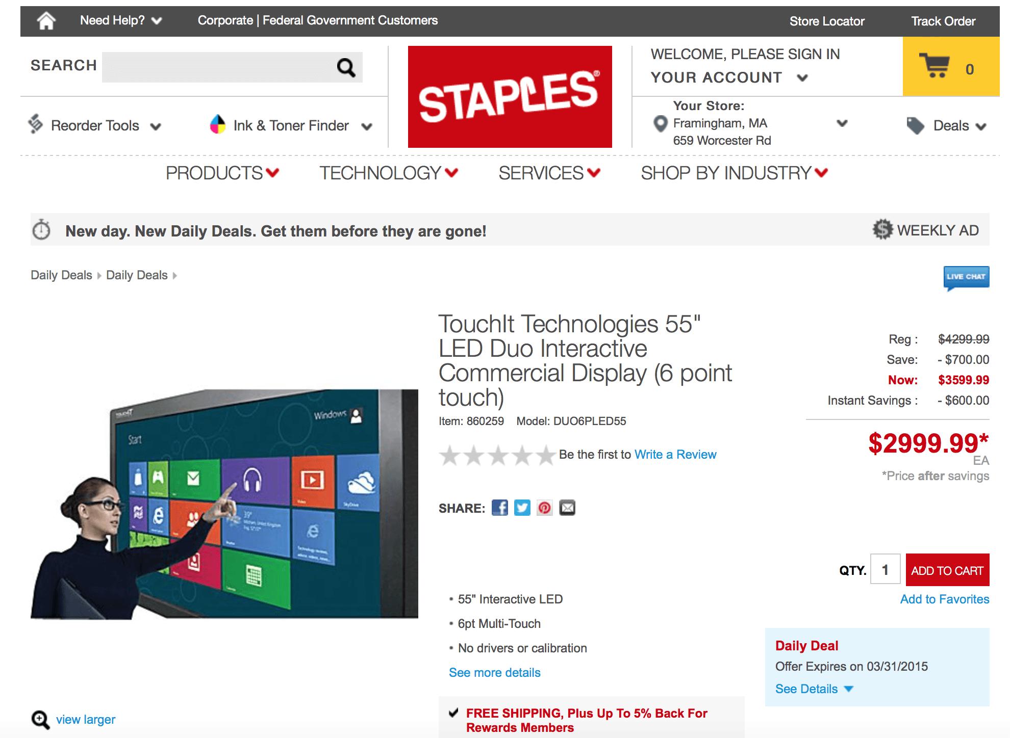 Staples.com Daily Deals